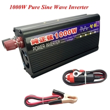Peak Power 1000W DC/AC Inverter Converter Pure Sine Wave Power Inverter Converter DC 12V/24V to AC 110V/220V for TV/Computer