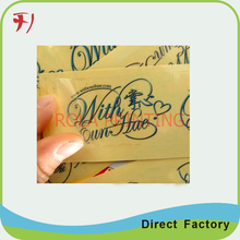 Customized Custom printed silver/gold foil sticker labels for promotion(China)