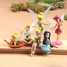 Good PVC Pixie Dust Princess Tinkerbell Anime Figure Angels wings little fairy Hana no Ko Lunlun Doll Model Toy Decoration