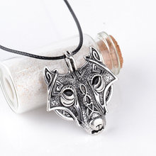 SUTEYI 2017 New product Nordic Vikings Pendant men Necklace Nordic Head Wolf Necklace Animal Animal Jewelry Wolf Head hange(China)