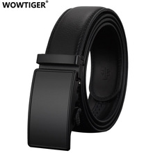 WOWTIGER Fashion Automatic Buckle Leather luxury Designer Male Belts For men Business Alloy buckle Men belt