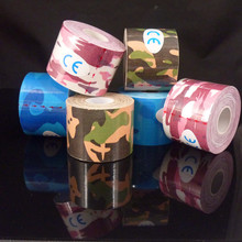 army camouflage kinesiology tape 5cm*5m kinesio tape cottone elastic adhesive muscle strain injury physical therapy tape