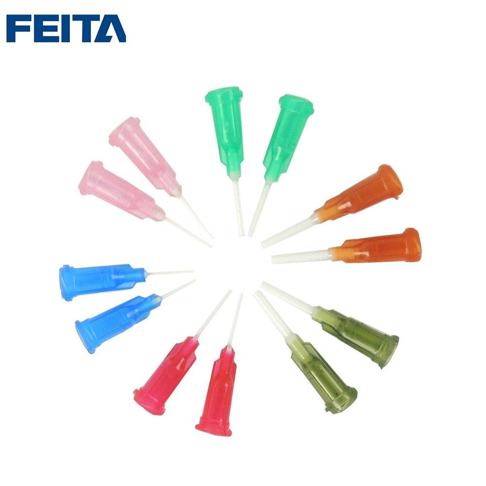 1000pcs/bag 1/2 Tip Length PP Flexible Plastic Glue Dispensing Needle Tips for Glue Dispenser and Glue Robot <br>