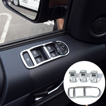 For Land Rover Freelander 2 Inner Door Armrest Window Switch Cover Trim 2011-2015 4pcs(China)