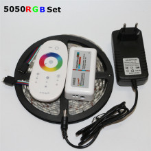 1Pack 5M RGB 5050 SMD LED Strip light 60Leds/m + 3A DC 12V Power Adapter Transformer + 2.4G RF Remote Controller