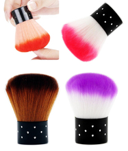 Bittb 1Pcs 6Colors Nail Art Brush Acrylic UV Gel Nail Clean Brush Dust Remover Tools Face Blush Makeup Brushes Manicure Painting(China)
