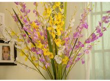 94cm High-end Simulation Dancing Orchid Natural Dancing Single Branch Placed Floral Decoration Faux Orchid Flowers