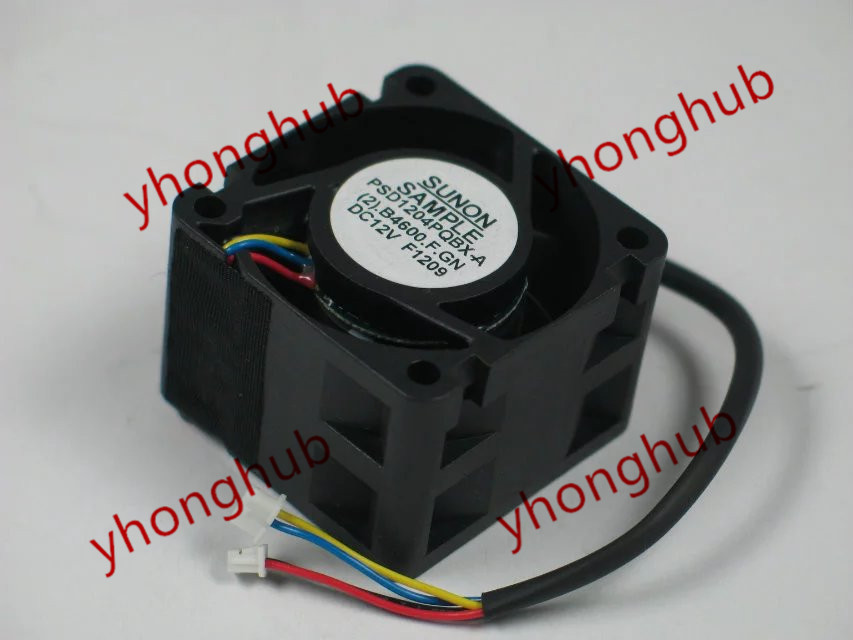 Free Shipping For SUNON PSD1204PQBX-A, (2).B4600.F.GN DC 12V 0.9A 4-wire 5-pin 40x40x28mm Server Square fan<br>