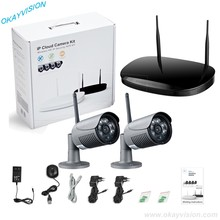 New Okayvision 2CH Wireless 720P HD Outdoor Security Camera System 1TB Hard Drive 2 Channel CCTV DVR Kit wifi Camera Set