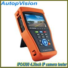 best  4.3 inch capacitive touch screen  IP camera tester IPC 4300 HD sdi tester with Onvif and Support PTZ Control