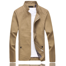 Plus Size 5XL Solid Colors Men Jacket Spring Autumn Casual Male Coat Slim Fit Outdoors Khaki Jacket Homme Coat
