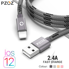 PZOZ usb kabel voor iphone kabel Xs max Xr X 8 7 6 plus 6 s 5 s plus ipad mini snel opladen kabels mobiele telefoon charger cord gegevens(China)