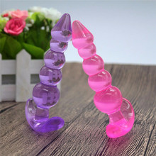 Buy Women Men Orgasm TPR 5 Jelly Anal Beads Balls Plug Ring Play Adult Toy Gags & Practical Jokes