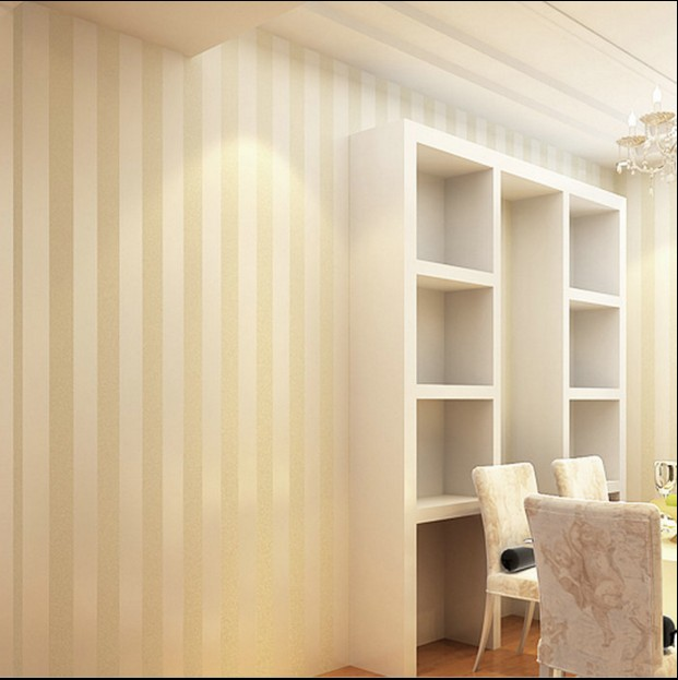 new hot sale 2016 non-woven waterproof wallpaper 3d joker stripe wall stickers bedroom living room TV setting wall paper<br>