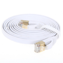 High Speed 2M/3M/5M Aurum Cables Flat CAT7 Flat UTP Ethernet Internet Network Cable RJ45 Patch LAN Cable Connector(China)