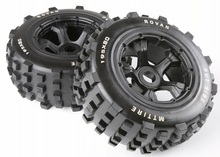 Rovan 1/5 Scale RC Car BAJA Parts Rear Knobby Wheel Tyres KM RV HPI Baja 5T/ 5SC LOSI 5ive-t DBXL 195*80MM