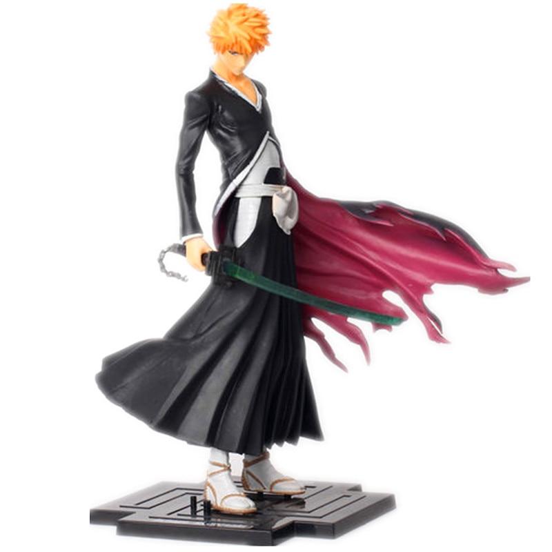 Japana Anime Bleach Kurosaki Ichigo PVC Action Figure Toys 22cm Retial Box<br><br>Aliexpress