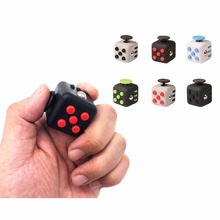 11 Styles Squeeze Fun Stress Reliever Gifts Cube Relieves Anxiety and Stress Juguet For Adults Fidget Cube Desk Spin Toys(China)