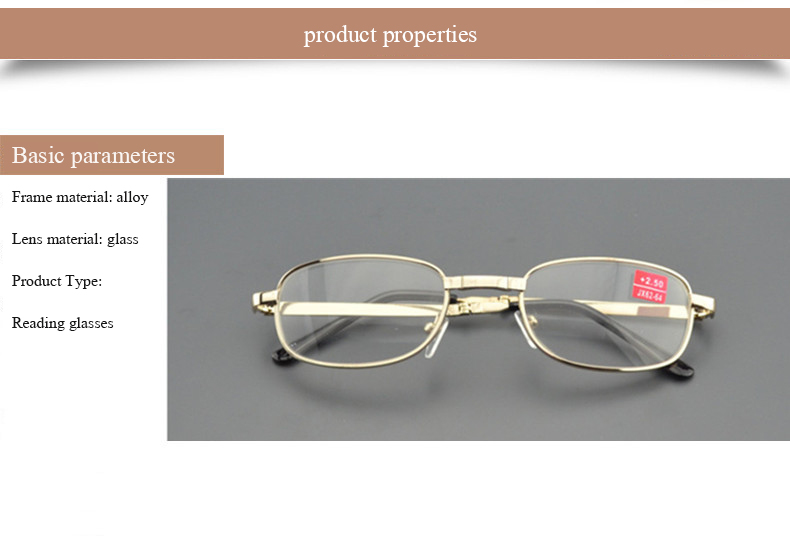 fd32c94b49 Metal Frame Men Women Reading Glasses Diopter Gifts For Parents Folding Glasses  Lunette Lecture Glass Lens Presbyopia Eyeglasses. 1 2 3 ...