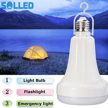 SOLLED NEW LED E27 Energy Saving USB Rechargeable Intelligent Light Flashlight Bulb Lamp Emergency Lights(China)