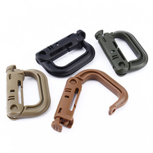 1Pcs Camping Tools Survival ABS Plastic Buckle Tactical Backpack Shackle Carabiner Snap D-Ring Clip Locking Hook Climbing Hiking(China)