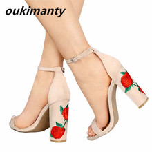 High Heels Women Shoes Summer Woman Ladies Women Pumps Sexy Heels Shoes Open Toe Platform Ankle Strap Black #Y0613780Q