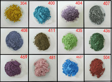 pearl pigment, pearlescent pigment,pearl powder,color:luster blue,apple green,pink,etc..1lot=12colors,20gram each,free shipping.