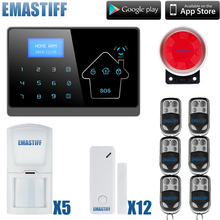 Wireless text LCD Touch Screen GSM Alarm System Autodial Home House Office Intruder Security Guard(China)