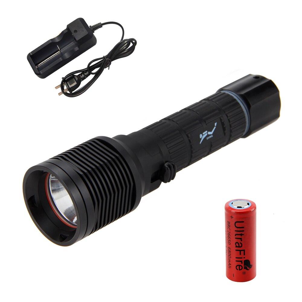 Waterproof Scuba Diver Diving 2000Lm XM-L2 LED Flashlight Torch Light 26650 Lamp<br>