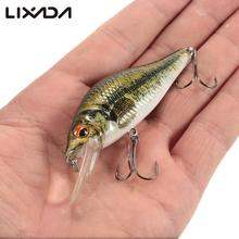 Lixada 8.5cm/10g Lifelike Fishing Lure Bionic Crankbait 3D Eyes Fishing Lure Body textures Fish Bait 6# Strong Treble Hooks