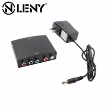 Onleny 1080p Component to HDMI Converter RGB YPbPr to HDMI Converter AV Video Audio HDCP YPbPr/RGB + R/L audio to HDMI Converter(China)