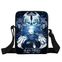 Anime Undertale Messenger Bag Boys Girls Mini Crossbody Bag Sans Young Men Shoulder Bags Women Handbags Children School Bags(China)