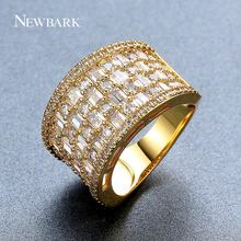 NEWBARK Brand Rings For Women Gold Color With Top Cubic Zirconia Stone Ring Fashion Jewelry Female Party Anniversary Gift