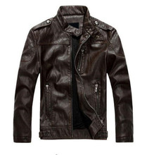 New arrive brand motorcycle leather jackets men jaqueta de couro masculina mens leather jackets coats