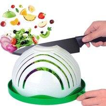 1PCS Salad Cutter Bowl 60 Second Salad Maker Family Fast Vegetable Cutter Bowl Make Salad Tool Kitchen Salad seen TV