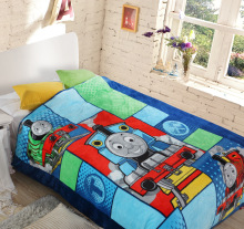 Student Kids Thomas Train Duvet Cover/Boys Doraemon School Single Bed Quilt Cover/Children Cartoon Brand Winter Beddings