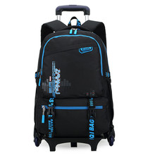 New Kids Trolley School bags Boys Children Removable Backpack 2-6 Wheels For Children Rolling Backpacks Wheels Girls Schoolbag