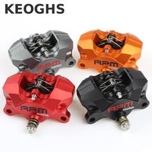 Keoghs Rpm 2*34mm Rear Brake Caliper Brake Pumb Cnc Aluminum 84mm Hole To Hole For Yamaha Kawasaki Ducati Honda Suzuki Modify