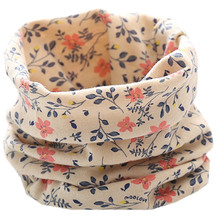 LIHFSI New 2017 Autumn Winter Children 100% Cotton Scarf Baby Scarf Bibs Boys Girls Scarves Lovely Kids Collars Child Ring Scarf