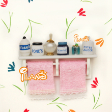 Rack Towel Perfume Cleaning Articl 1/12 Dollhouse Bathroom Set OD001B