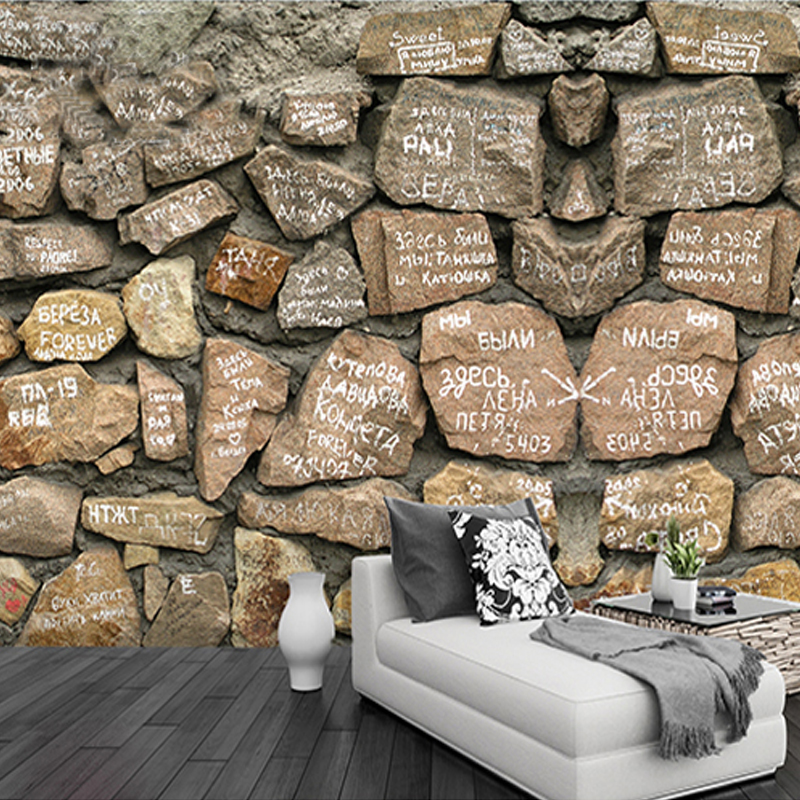 Customized Any Size 3D Vintage Imitation Stone Wallpaper Non-woven Bedroom Living Room Coffee Restaurant Wallpaper De Parede 3D<br><br>Aliexpress