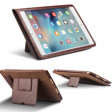 Case For ipad 2 3 4 bag, Magnetic Smart Cover luxury Genuine Leather Stand multi-functions Tablet Case For Apple For iPad 2 3 4(China)