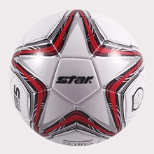 High Quality 2017  Star Soccer Ball Size 5 PU Leather Professional Football Ball For Official Match Training Classic Type