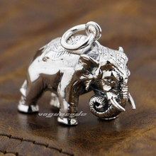 Cool The Mighty Elephant Pendant Solid 925 Sterling Silver Men's Huge and Heavy Fashion Pendant 8P023(China)
