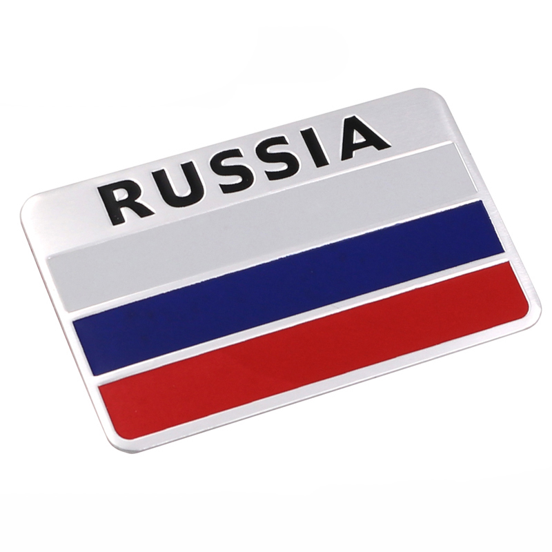 Stylish-3D-Aluminum-Russian-Flag-Pattern-Square-car-Stickers-Decal-Car-Window-Door-Durable-to