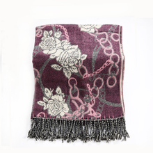 Fashionable Winter Scarf Cashmere Women Floral Blanket Scarf Oversize Wrap Shawl Ladies Scarves Long Wraps Pashimina Classic