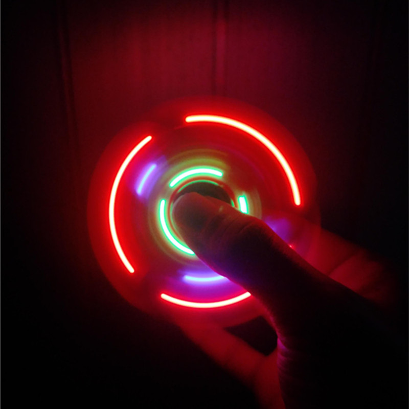 Transparent LED Luminous Hand Spinner Bluetooth Speakers USB Interface Portable For Autism And ADHD Easy To Relieve Stress