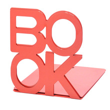 Practical Top 2016 Hot Sale Cute Nonskid Bookends Art Bookend Bookcase  Wholesale Red