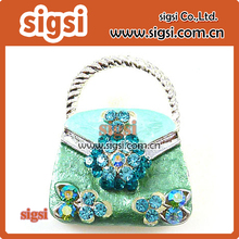 Supplier wholesale enamel handbag shape rhinestone brooch