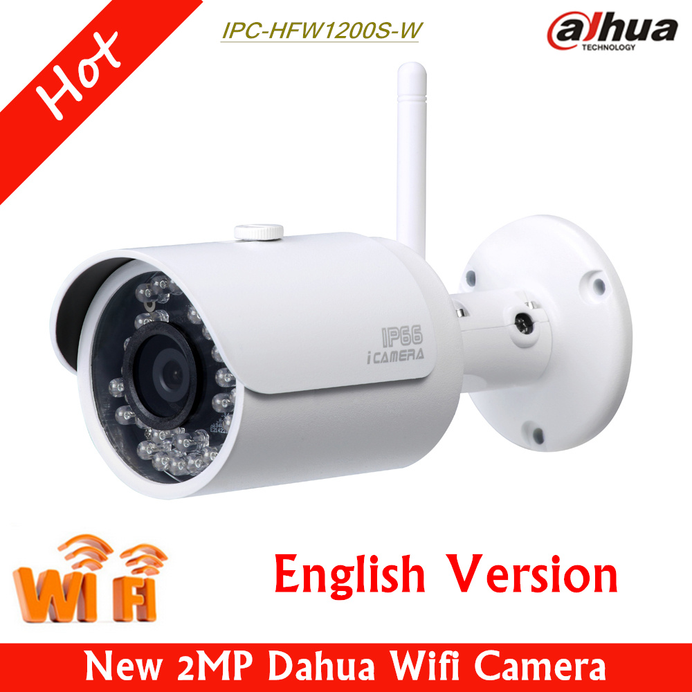 Hot Dahua Wifi IP Camera IPC-HFW1200S-W 2mp IR HD 1080p Security Camera 1MP Max. IR LEDs Length 30m English version HFW1200S-W<br><br>Aliexpress